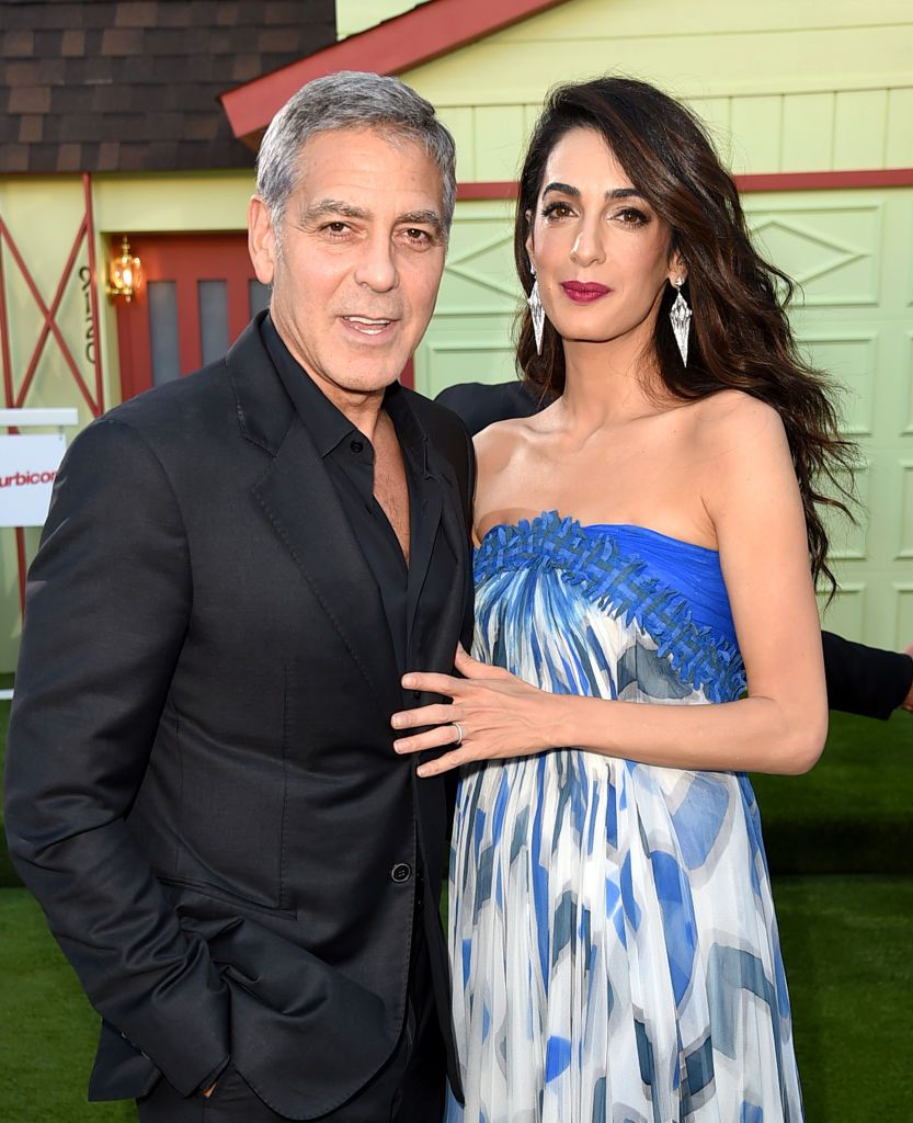 """Executive producer/director George Clooney and his wife Amal Clooney at the premiere of Paramount Pictures' """"Suburbicon"""" at the Village Theatre on October 22, 2017 