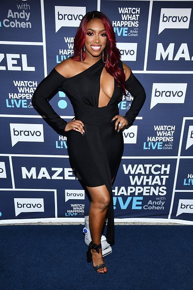 Porsha Williams on set of Watch What Happens Live With Andy Cohen | Photo: Getty Images