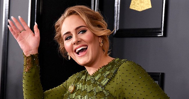 Adele Rocks Denim Outfit with a Black Face Mask as She Reads Her Script Ahead of SNL Debut