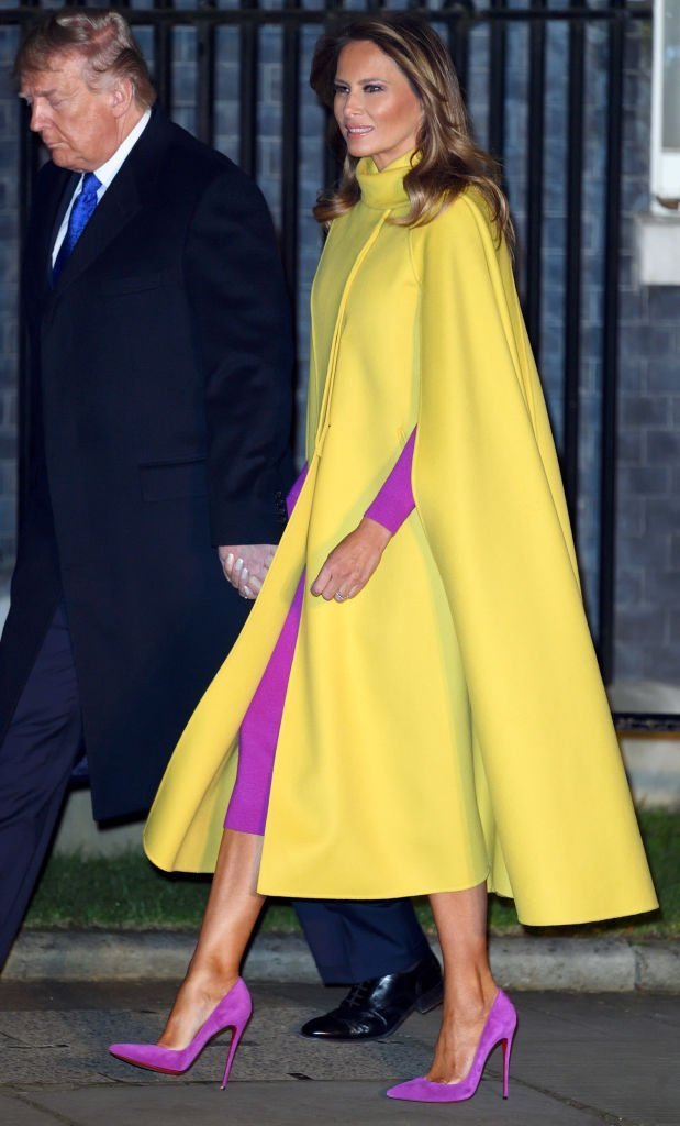 Donald Trump and First Lady Melania Trump arrive to attend a reception to mark the 70th anniversary of the forming of the North Atlantic Treaty Organisation (NATO) on December 03, 2019 | Photo: Getty Images