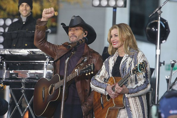 "Tim McGraw and Faith Hill perform on NBC's ""Today"" Show at Rockefeller Plaza 