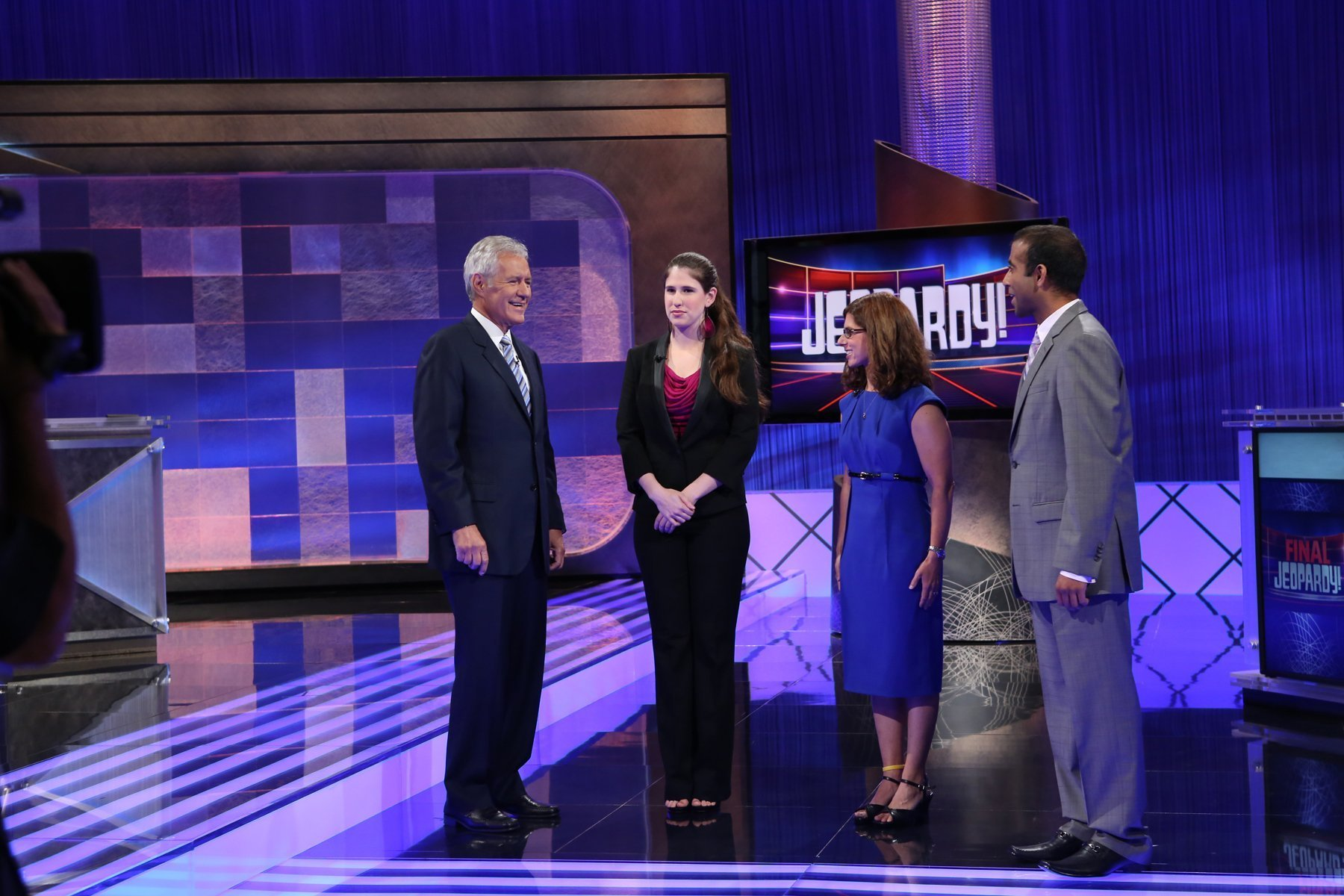 Host Alex Trebek, 72, returned to the set at Sony Pictures Studios to tape the first episode of the new season on July 25, 2012|Photo:Getty Images
