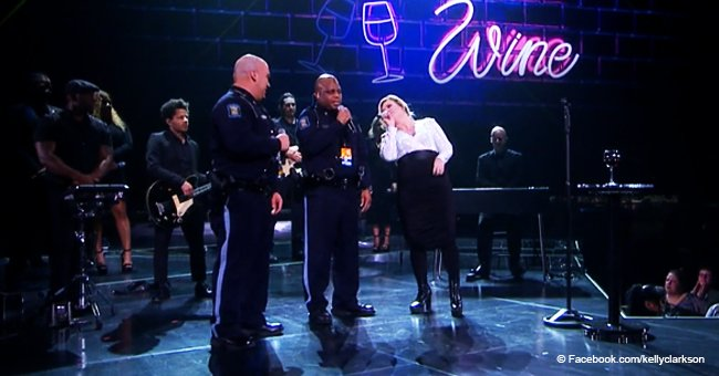 American superstar surprises audience inviting Kansas Hwy Patrol troopers to join her on stage