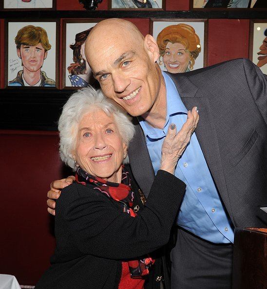"Charlotte Rae and her son Larry Strauss promotes her book ""The Facts of My Life"" at Sardi's in New York City.