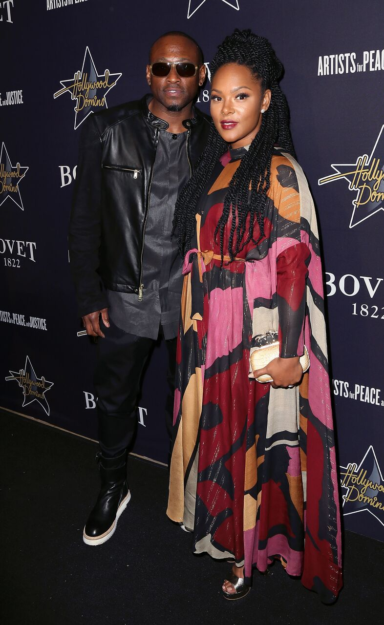 Omar Epps and Keisha Epps attend the Hollywood Domino & Bovet 1822's 8th Annual Pre-Oscar Hollywood Domino Gala & Tournament at Sunset Tower Hotel on February 19, 2015 in West Hollywood, California. | Source: Getty Images