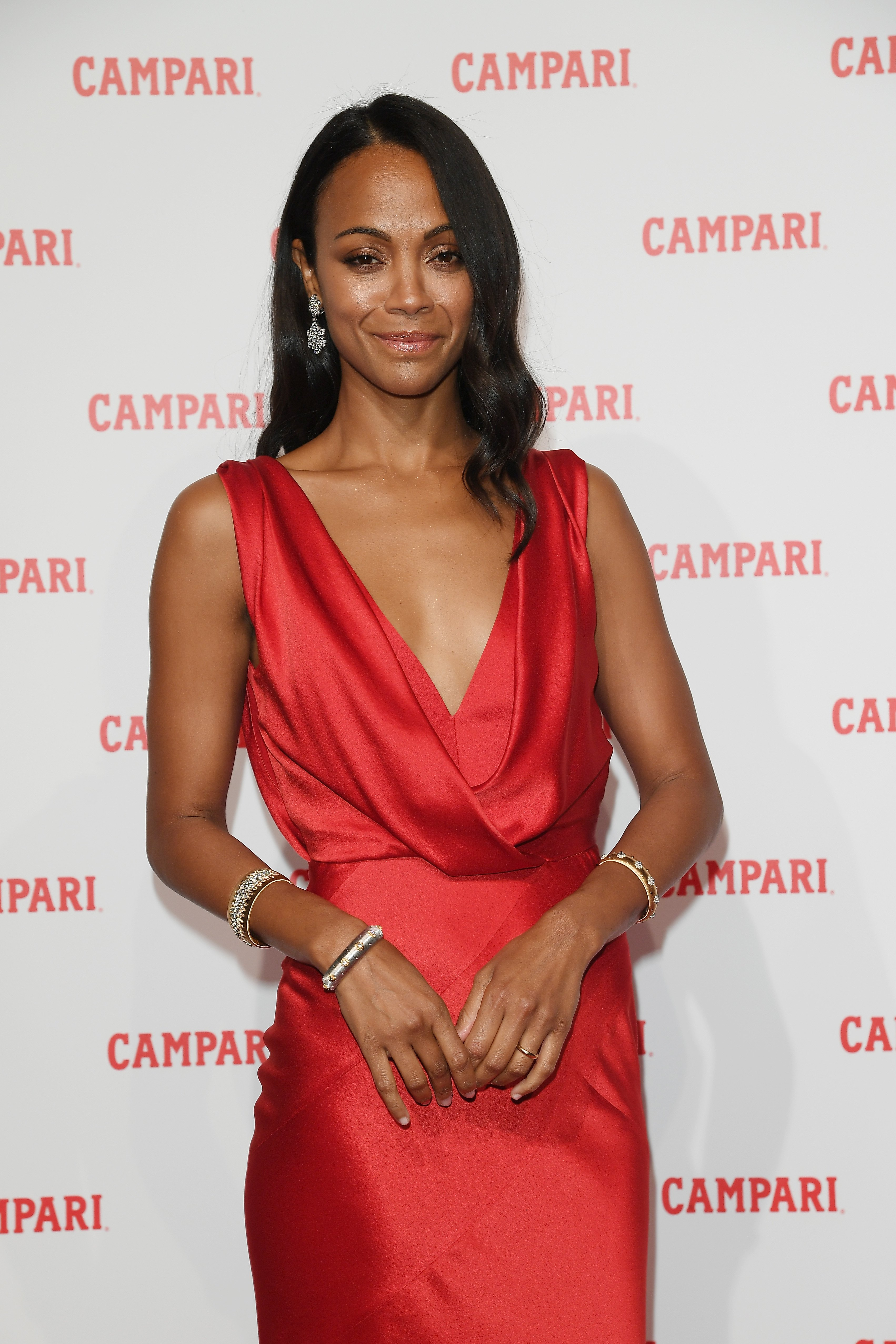 Zoe Saldana attends the premiere for the Campari Red Diaries short movie, 'The Legend of Red Hand.' | Photo: GettyImages