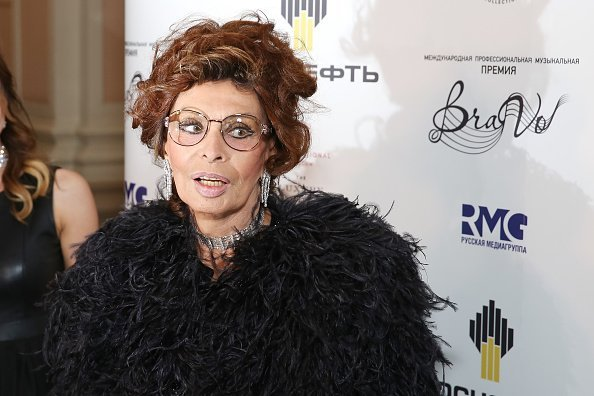 Italian actress Sophia Loren attends presentation BraVo international music awards at the Bolshoi Theatre in Moscow, Russia | Photo: Getty Images