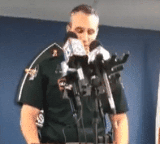 Chris Nocco, Pasco Sheriff making a statement | Photo: YouTube/News Live Now