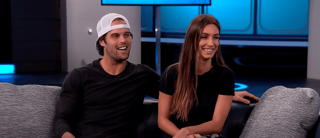 Kevin Wendt and Astrid Loch during an interview with ET Canada in September 2019   Photo: YouTube/ET Canada