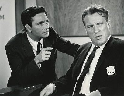 "Peter Falk and Dolph Sweet from the television program ""The Trials of O'Brien."" 