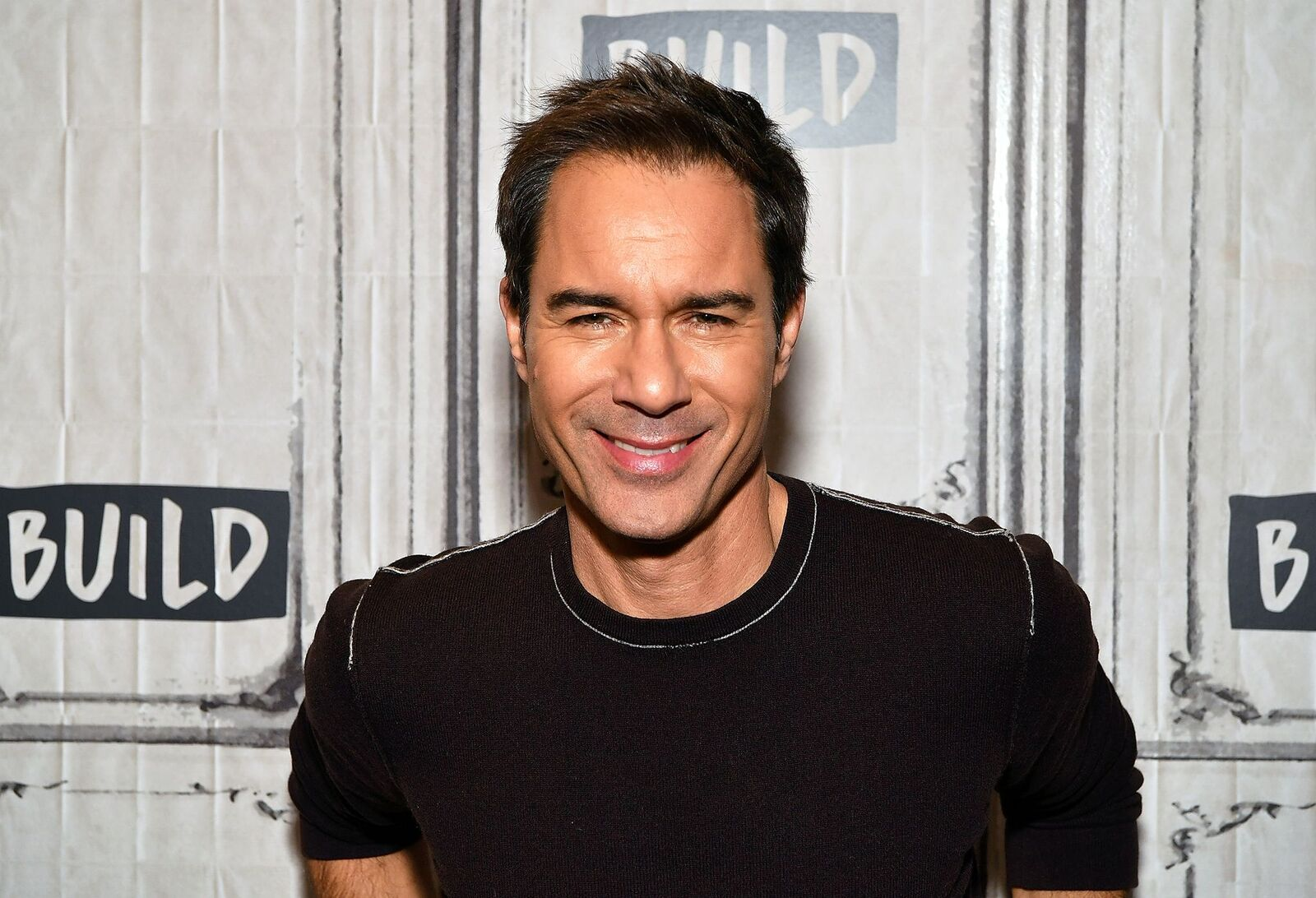 """Eric McCormack visits Build Series to discuss the television series """"Travelers"""" on November 28, 2018, in New York City 