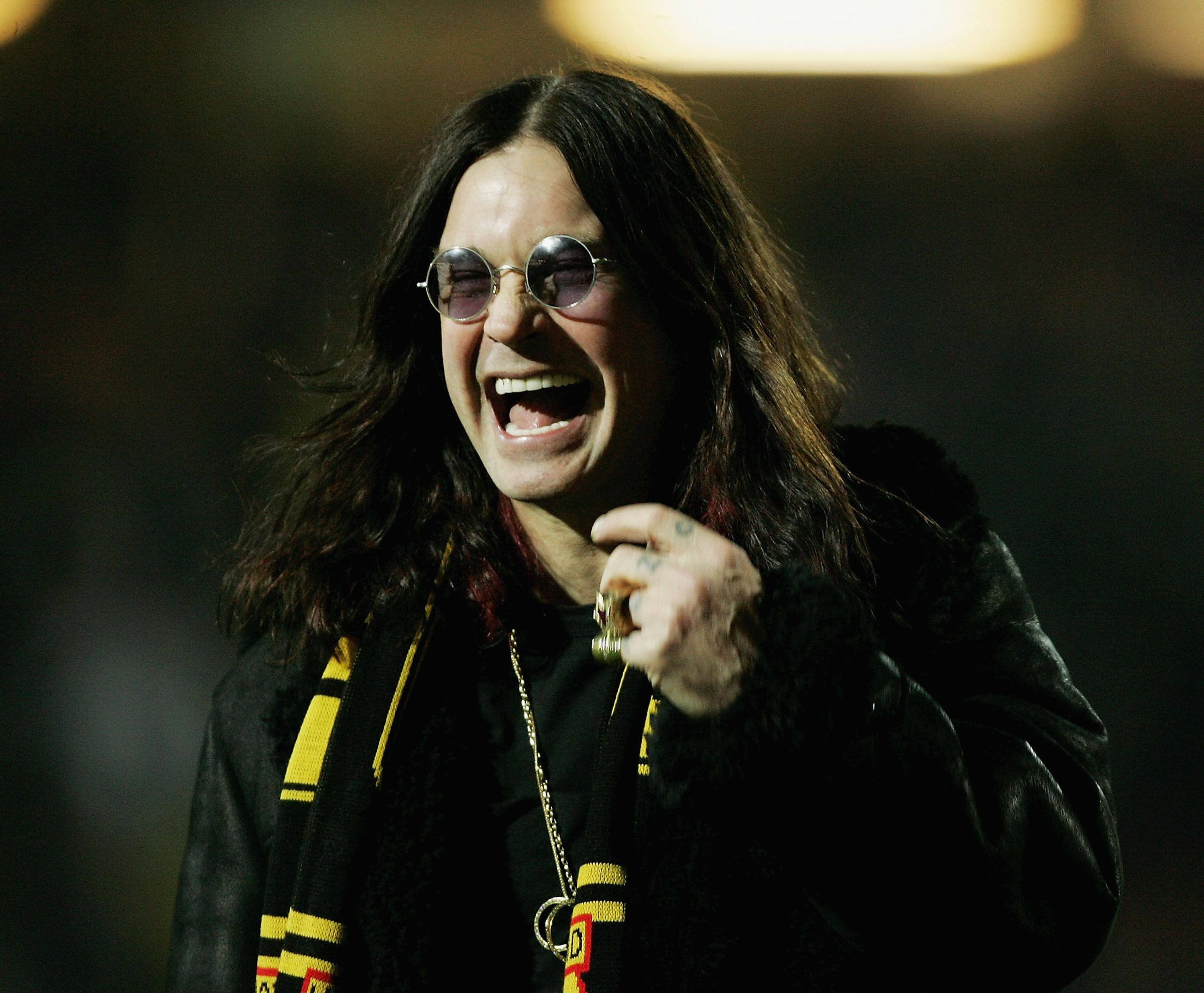 Ozzy Osbourne during the Carling Cup Quarter final match between Watford and Portsmouth at Vicarage Road on November 30, 2004 in Watford, England. | Source: Getty Images