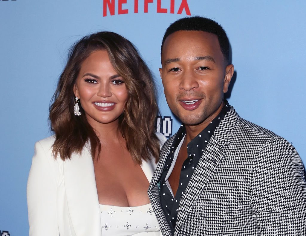 "Chrissy Teigen (L) and John Legend attend the LA premiere of Netflix's ""Between Two Ferns: The Movie"" at ArcLight Hollywood 