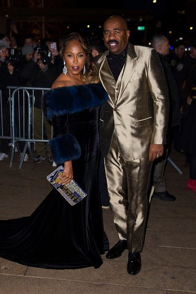 Marjorie Harvey and Steve Harvey at the Metropolitan Opera House at Lincoln Center on April 8, 2018 in New York City. | Photo: Getty Images