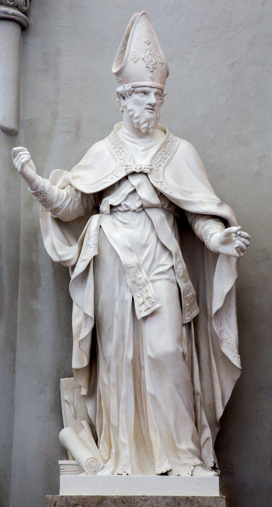 Estatua de San Agustín.| Fuente: Shutterstock