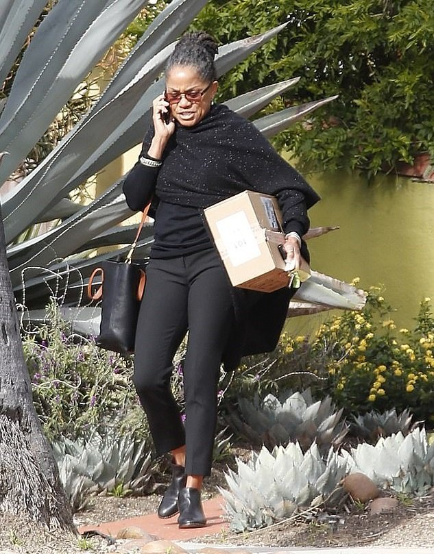 Doria Ragland in front of her house on February 20, 2019   Source: Daily Mail