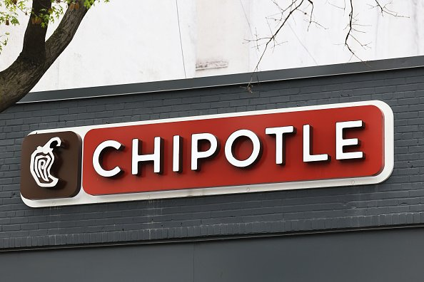 A Chipotle Mexican Grill sign is seen in the Park Slope neighborhood on April 29, 2021 in the Brooklyn borough of New York City.   Photo: Getty Images