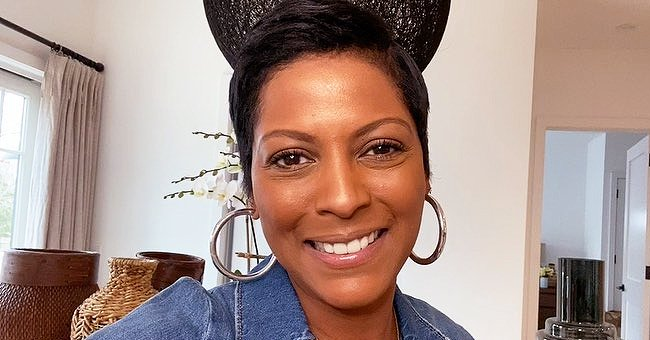 Tamron Hall and Son Moses Share a Sweet Moment Together in the Bathroom (Photo)