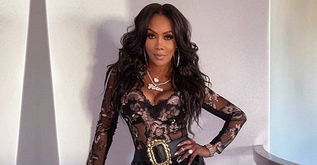 Vivica Fox Sets Hearts Racing Posing in a Sheer Blouse with Tight Latex Pants (Photos)