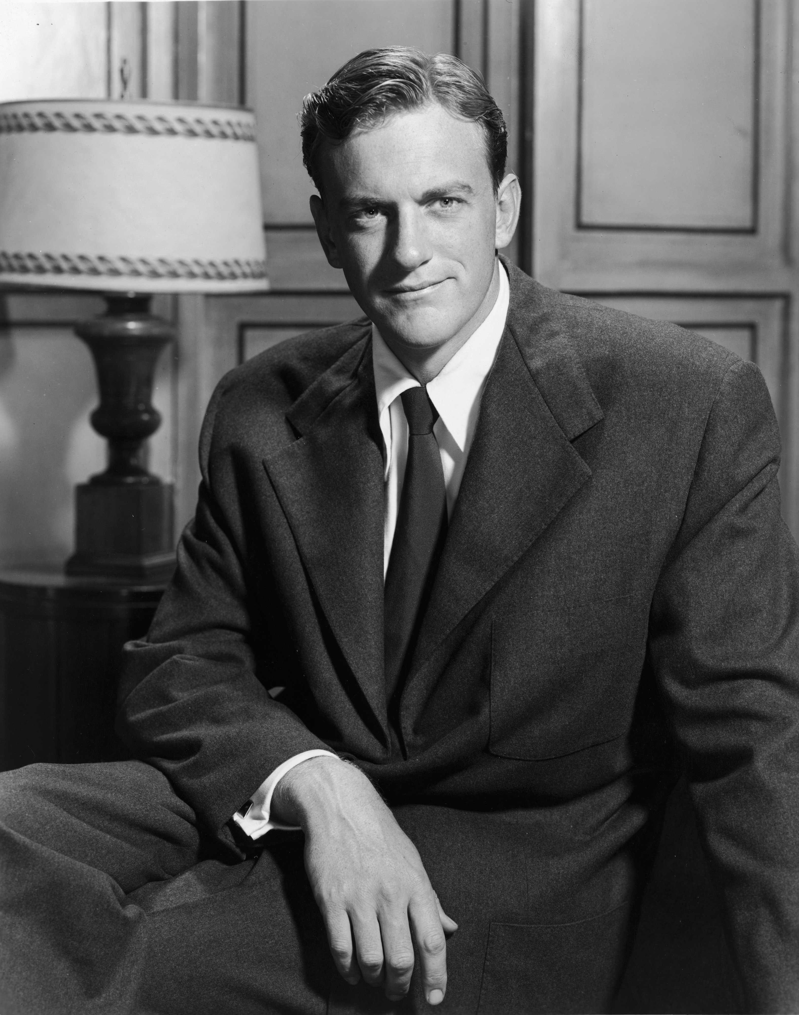 Promotional portrait of American actor James Arness, 1950s.   Source:Getty Images
