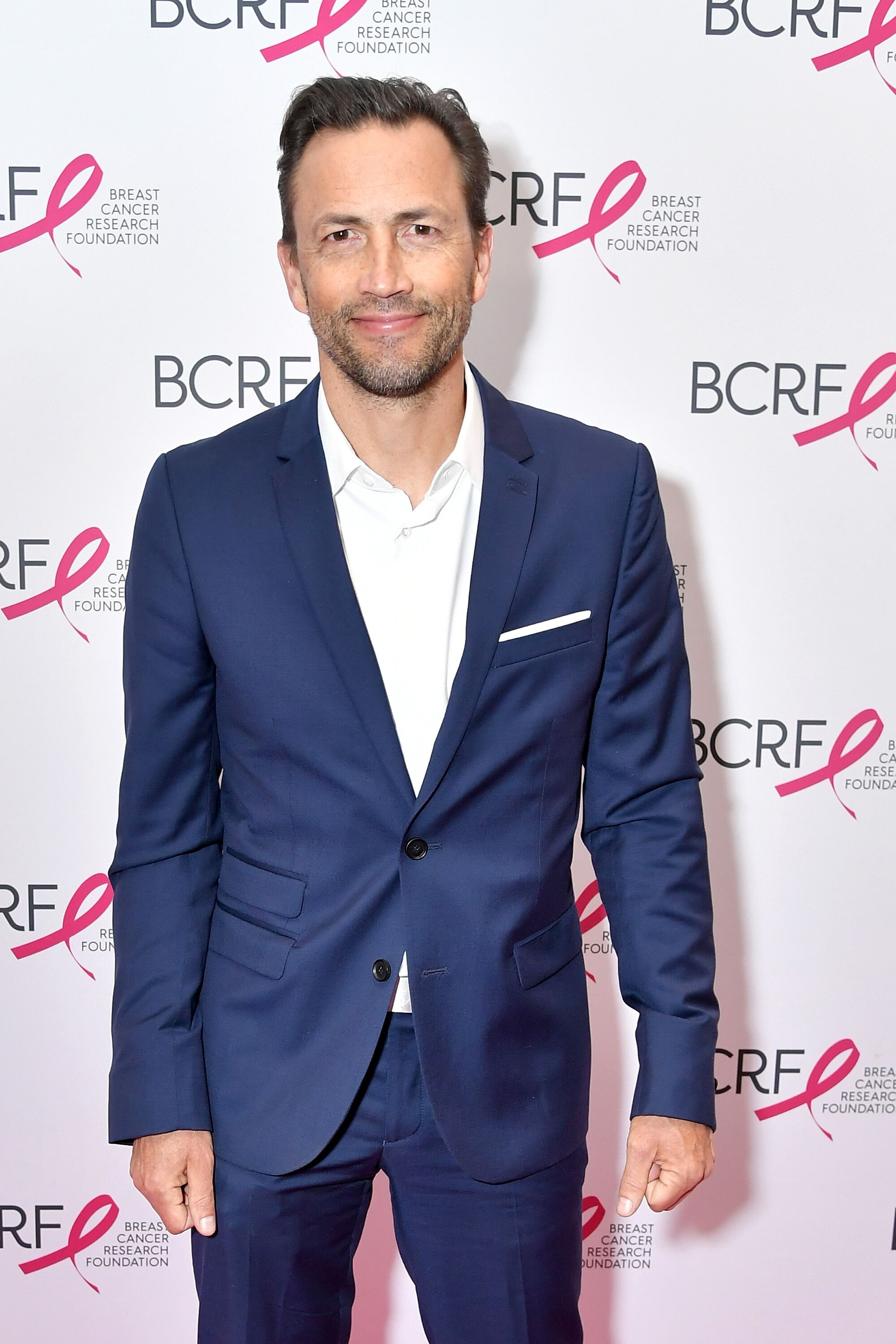Andrew Shue at the Breast Cancer Research Foundation New York Symposium & Awards in 2018 | Source: Getty Images
