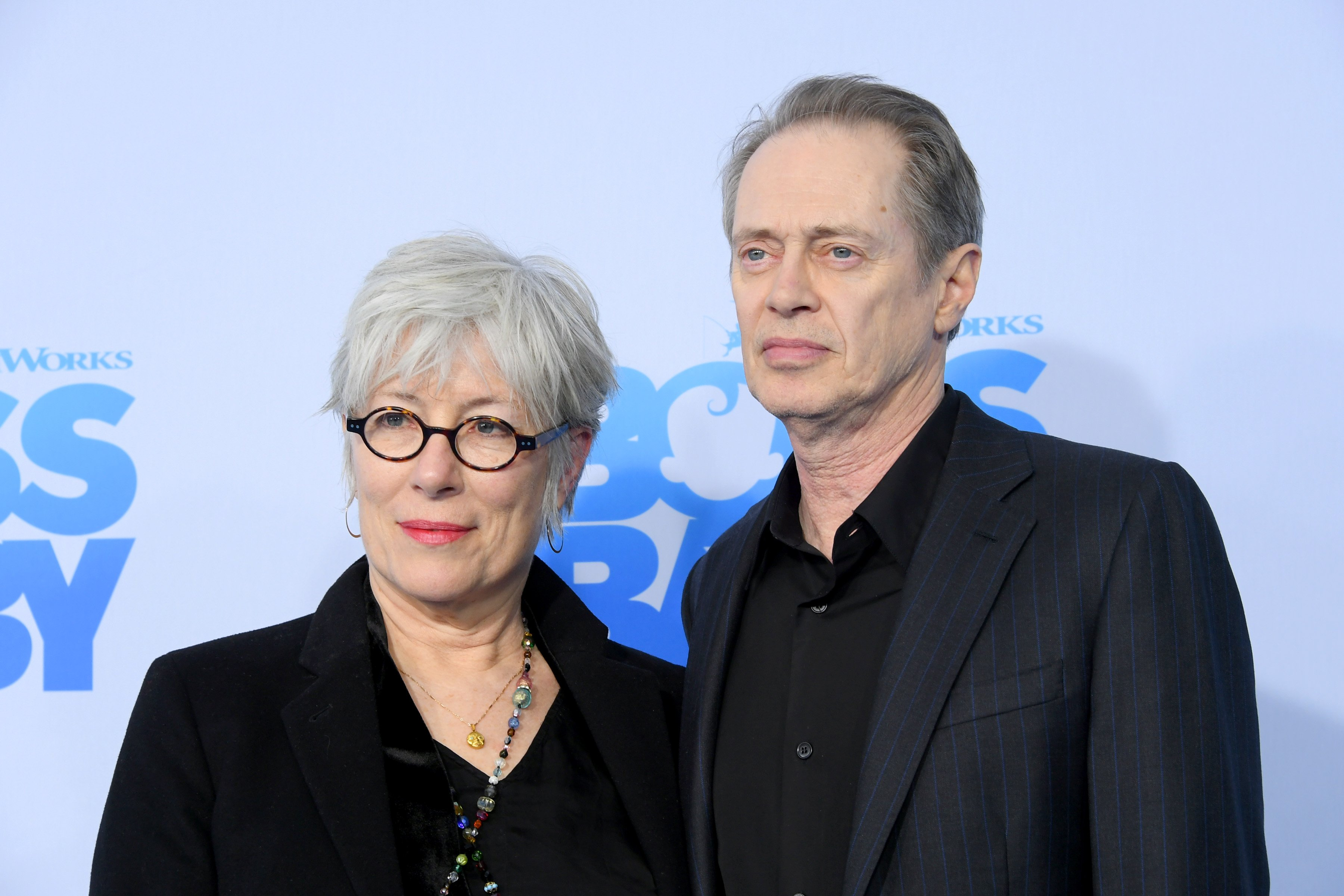 """Jo Andres and Steve Buscemi attend """"The Boss Baby"""" New York Premiere at AMC Loews Lincoln Square 13 theater on March 20, 2017 in New York City 