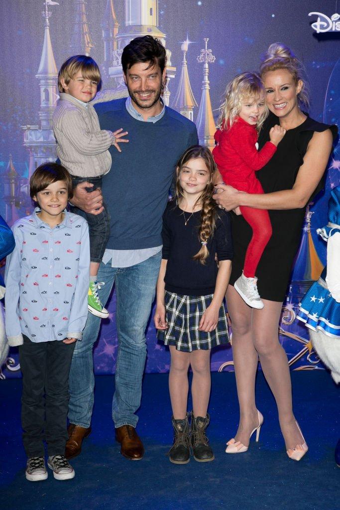 Bertrand Lacherie et sa famille en 2017. l Source : Getty Images