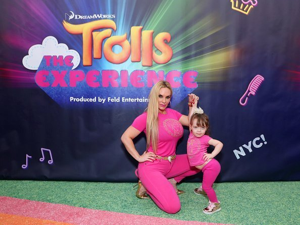 Coco Austin and daughter Chanel Marrow at DreamWorks Trolls The Experience Rainbow Carpet Grand Opening on November 14, 2018 | Photo: Getty Images
