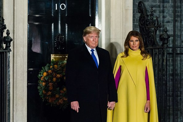 Melania Trump at 10 Downing Street to attend a reception for NATO leaders on 03 December, 2019 | Photo: Getty Images