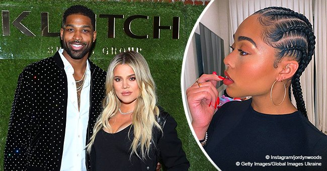Khloé Kardashian left a comment on Jordyn Woods' photo right before Tristan's cheating rumors broke