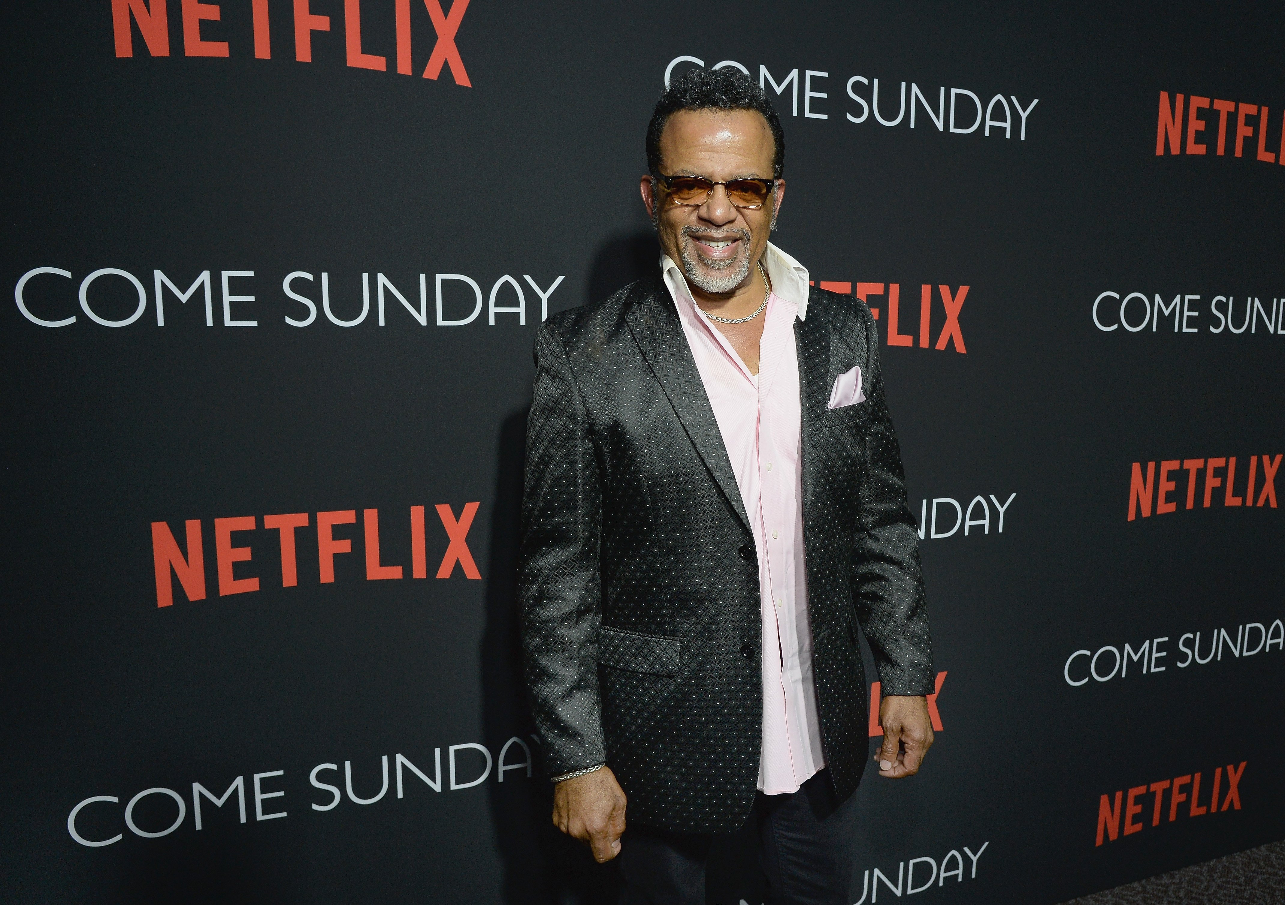 """Carlton Pearson attends the special screening of the Netflix film """"Come Sunday"""" at the Directors Guild of America Theater in Los Angeles on April 9, 2018 