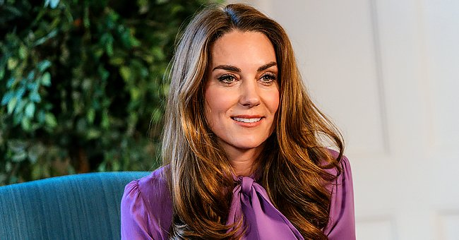 Kate Middleton Stuns in Recycled $1050 Purple Blouse as She Jokes about 'Toddler Tantrums'