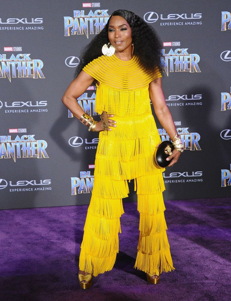 """Angela Bassett during the Los Angeles premiere of """"Black Panther"""" at Dolby Theatre on January 29, 2018 in Hollywood, California.   Source: Getty Images"""