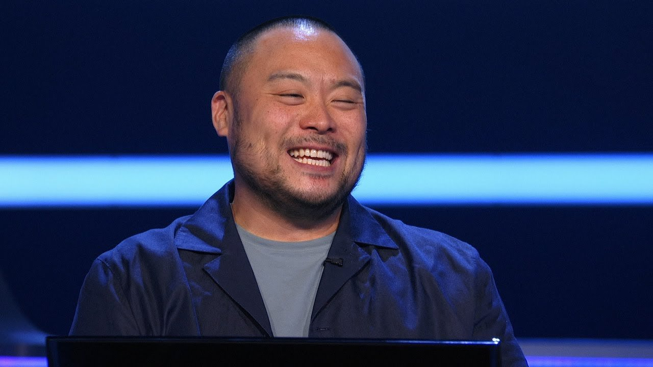 """Chef David Chang during an episode of  """"Who Wants To Be A Millionaire"""" that aired on November 29, 2020. 