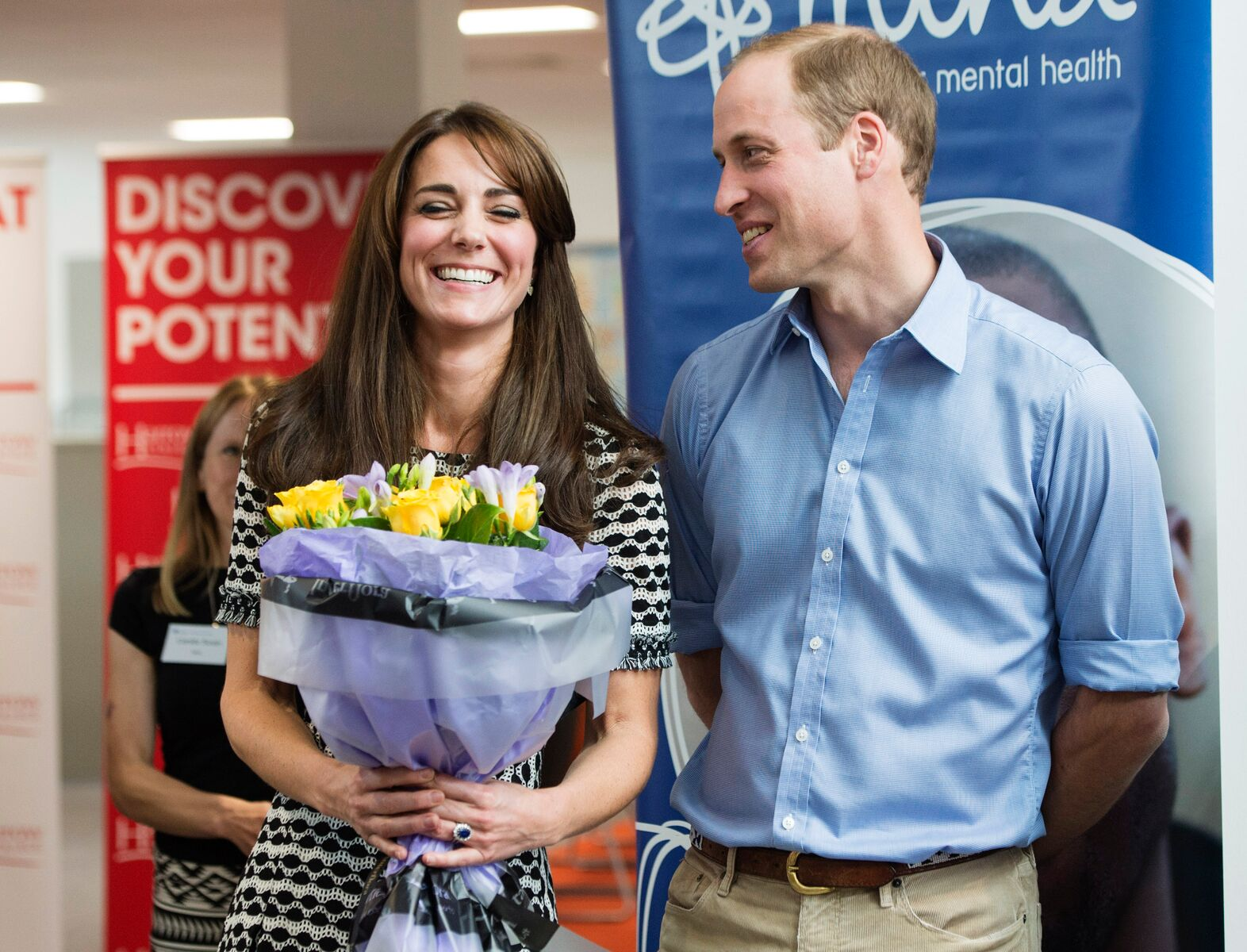 Prince William and Kate Middleton attend an event hosted by Mind to mark World Mental Health Day in 2015. | Source: Getty Images