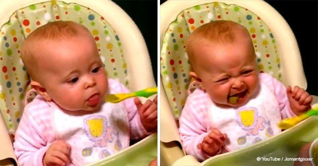 Baby Said First Words after Trying Peas and the Video Went Viral