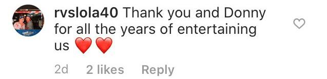 User comments underneath Marie Osmond's post   Photo: Instagram/ Marie Osmond