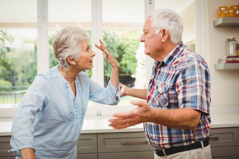 Senior couple arguing with each other at home. | Photo: Shutterstock
