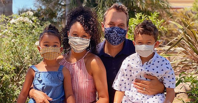 Tamera Mowry Shares Family Pic with Husband Adam and Kids Ariah and Aden Wearing Masks