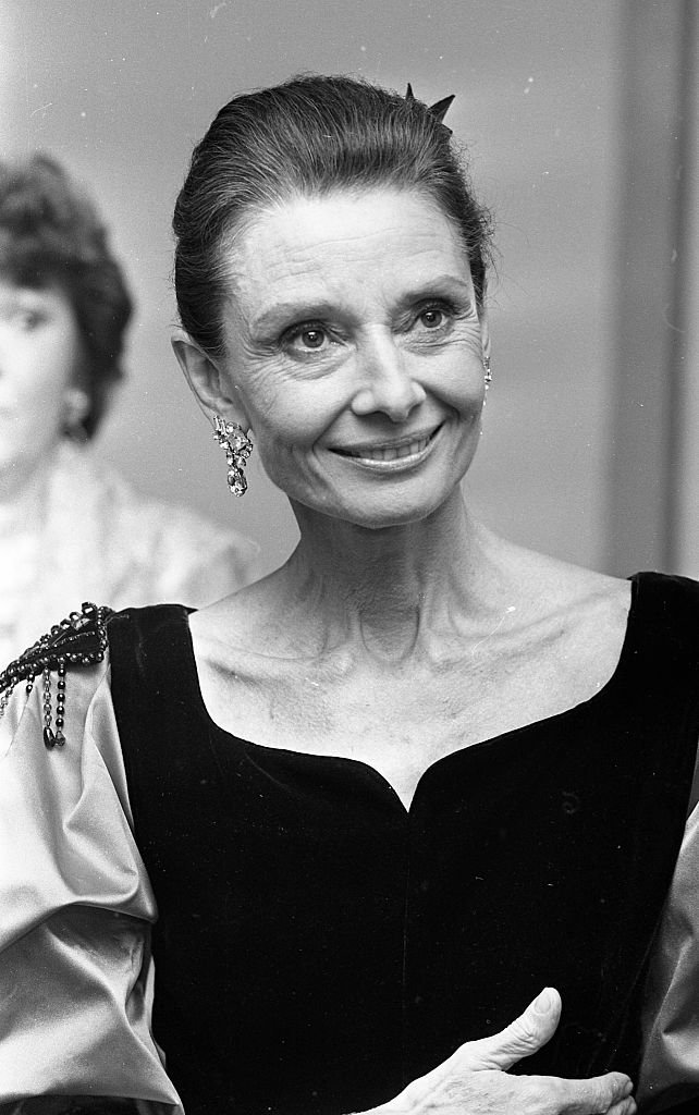 Audrey Hepburn pictured at the Burlington Hotel, Dublin, Ireland, October 1, 1988. | Photo: Getty Images