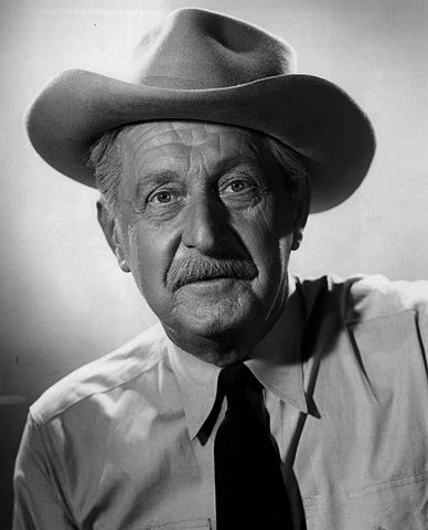"""Stanley Andrews as the """"Old Ranger"""" on Death Valley Days in 1953/ 