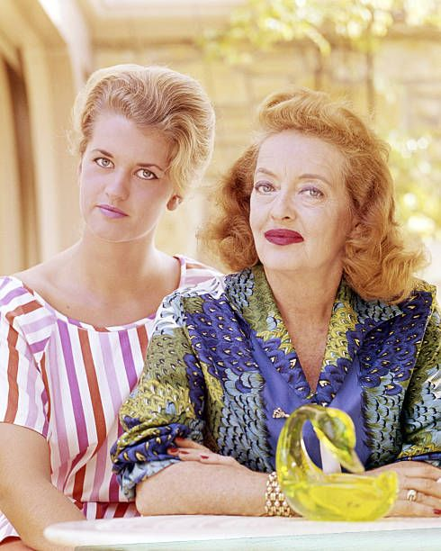 Bette Davis with her daughter Barbara Davis Sherry (later known as B.D. Hyman), circa 1965   Photo: Getty Images
