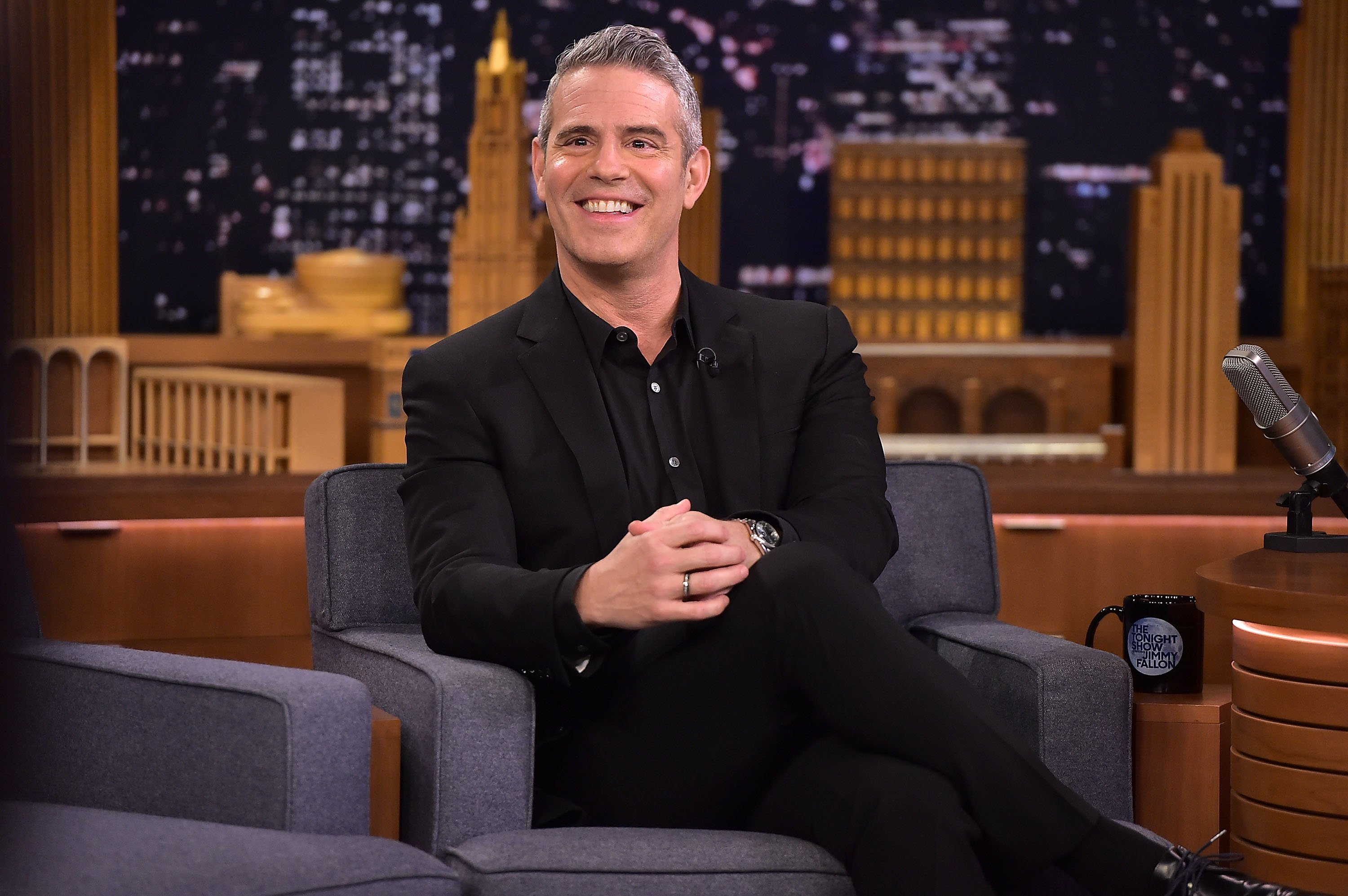 "Andy Cohen visits ""The Tonight Show Starring Jimmy Fallon"" on December 5, 2018 in New York City. 