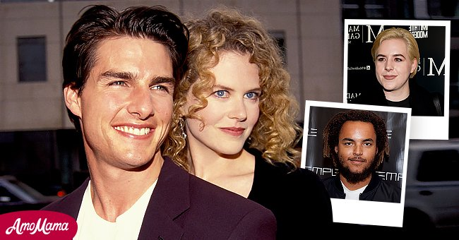 Tom Cruise and Nicole Kidman in Los Angeles in 1992. Inserts feature their two adopted children Isabella and Connor Cruise    Source: Getty Images