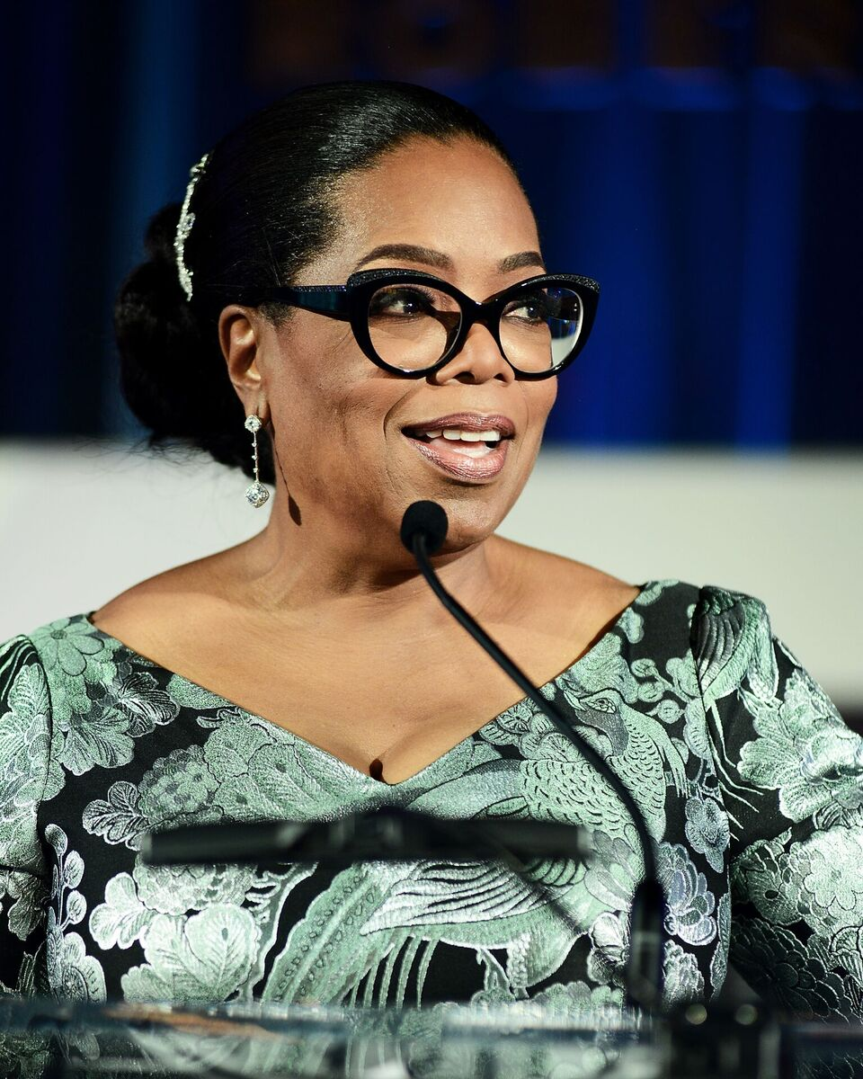 "Oprah Winfrey speaking at the ""Watching Oprah: The Oprah Winfrey Show And American Culture"" Opening Reception. 