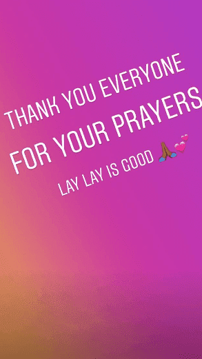 Skyy updating her fans about her baby daughter   Instagram Stories/Alexis Skyy