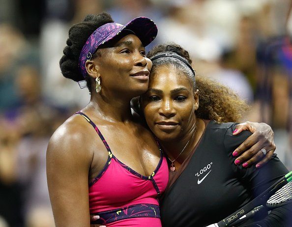 Venus Williams and Serena Williams at the USTA Billie Jean King National Tennis Center on August 31, 2018. | Photo: Getty Images