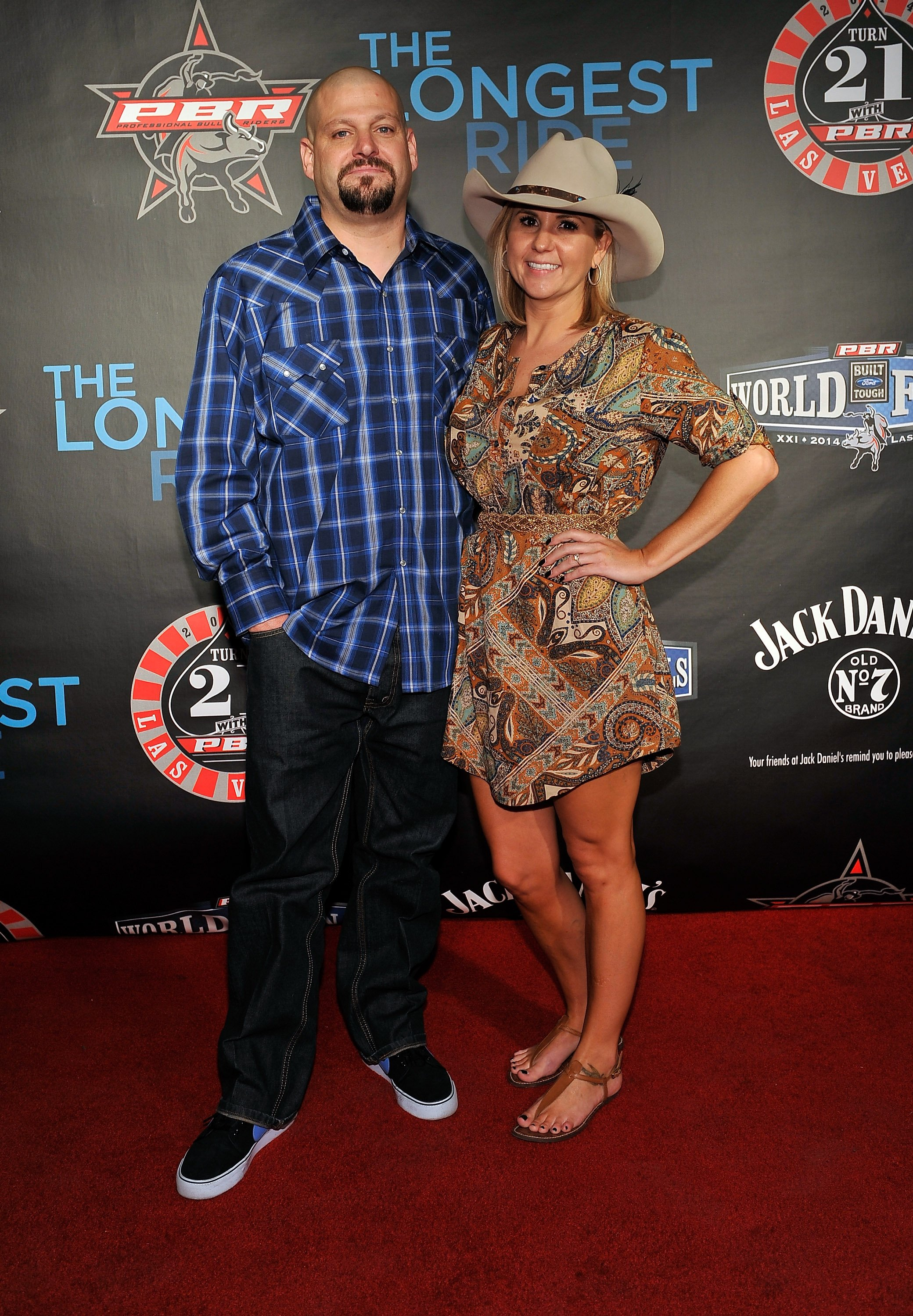 Jarrod Schulz (L) and Brandi Passante attend the Professional Bull Riders Official PBR 21st Birthday Party at the Mandalay Bay Resort and Casino on October 25, 2014 in Las Vegas, Nevada.  | Photo: GettyImages