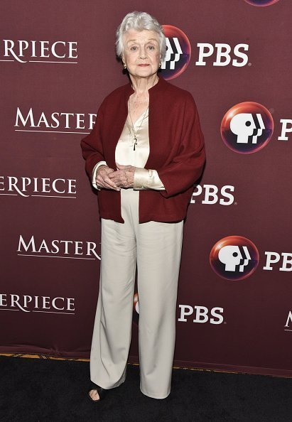 "Angela Lansbury attends photo call for BBC's ""Little Women"" at Langham Hotel on January 16, 2018 in Pasadena, California. 