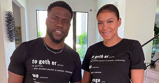 Kevin Hart's Wife Eniko Shows off Her Growing Baby Bump & Poses in a Tight Strapless Dress